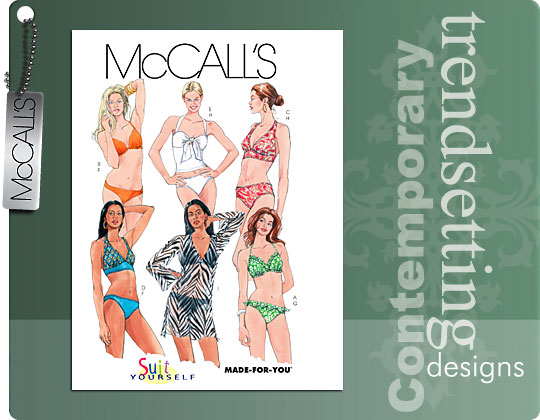 McCall's MISSES' TWO- PIECE BATHING SUI 5400