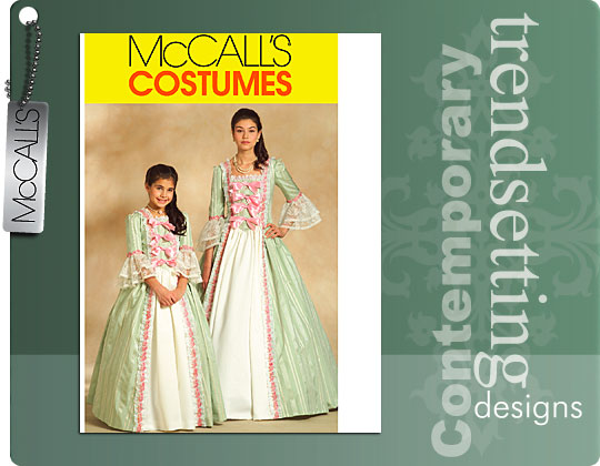 McCall's Girls' Early America Costumes 5414