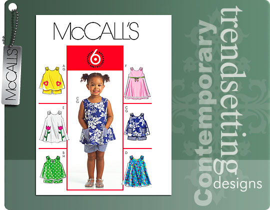 McCall's Toddlers' tops, dress, shorts 5416