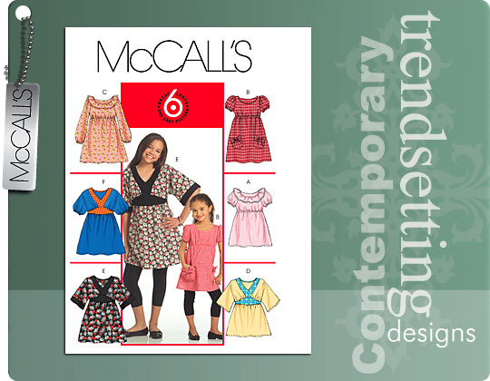 McCall's Girls' Tops and Dresses 5458