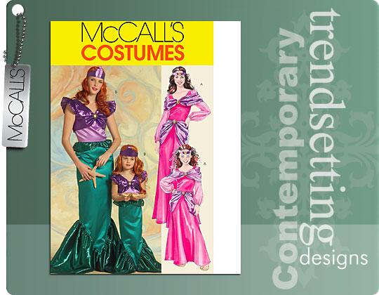 McCall's Girls' Mermaid/Princess Costum 5498