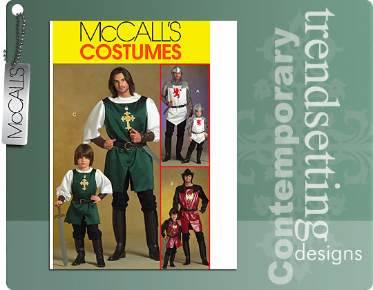 McCall's Knight and prince costumes 5500