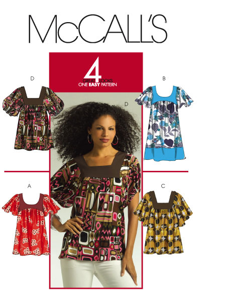 McCall's misses' tops and tunics 5588