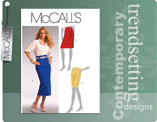 McCall's High Waisted Pencil Skirt 5590