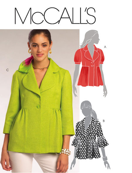 McCall's Misses Lined Jackets 5594