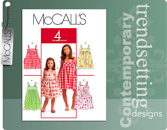 McCall's Children's and Girls' Dresses 5613