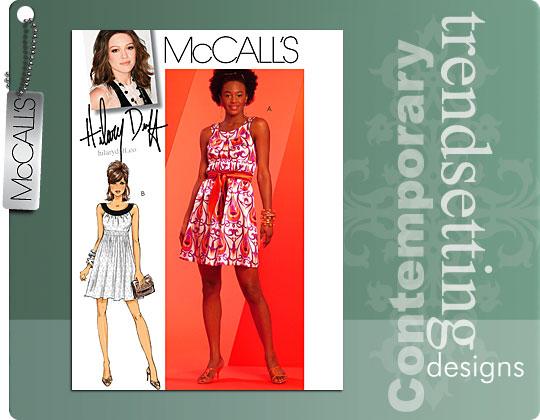 McCall's Hillary Duff Empire Waist Dres 5618