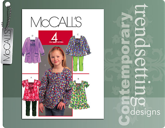 McCall's Girls\' Tops and Dresses 5693