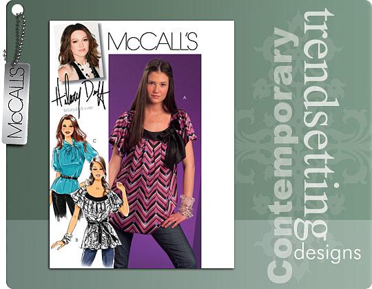 McCall's Hillary Duff Blouses 5708