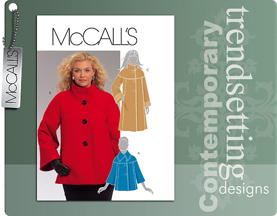 McCall's Funnel Neck Coat 5718