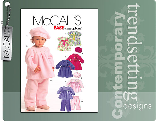 McCall's INFANTS' LINED COAT, TOP, DRES 5739