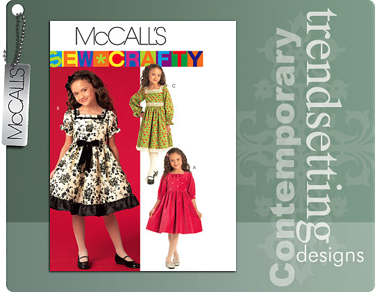 McCall's Long and Short sleeve Dresses 5742