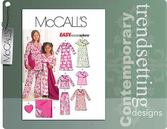 McCall's Girls\' Tops, Gowns, Pants 5744