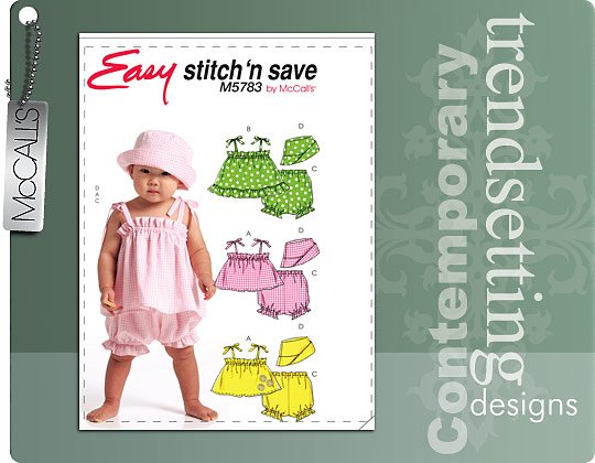 McCall's tie shoulder tap and bloomers 5783