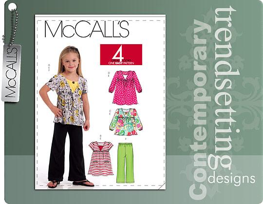 McCall's Girl Tops, Dresses, and Pants 5794
