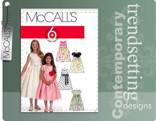 McCall's Girl\'s lined dress 5795