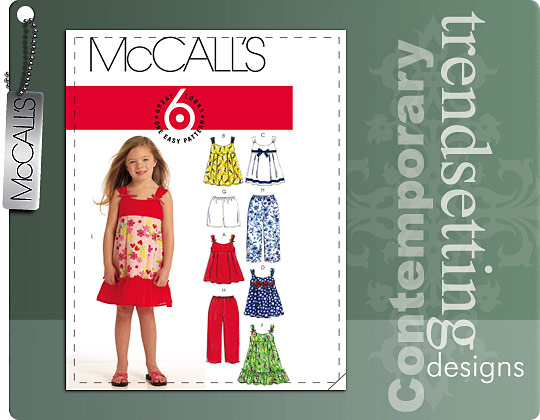 McCall's Girl Tops, Dresses, and Bottom 5836