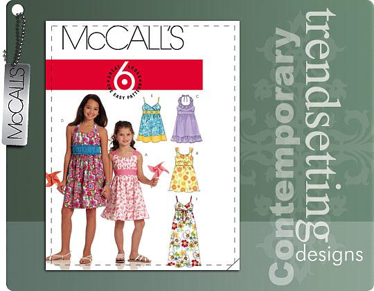 McCall's Girls\' Halter Dresses 5838