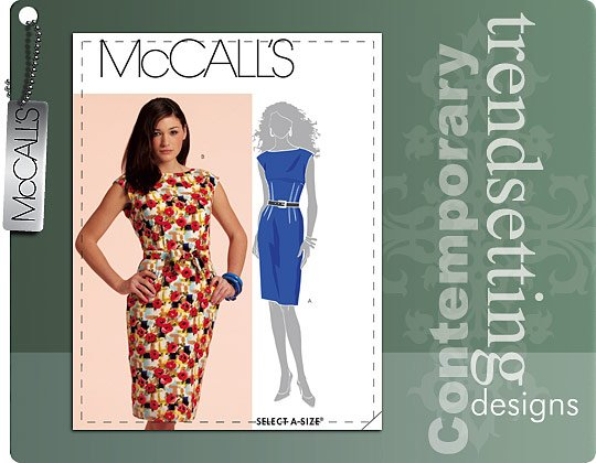 McCall's Lined Dress and belt 5845