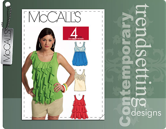 McCall's Misses Tops 5853