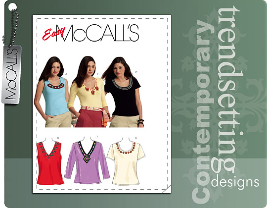 McCall's Fitted Pullover Knit Tops 5854