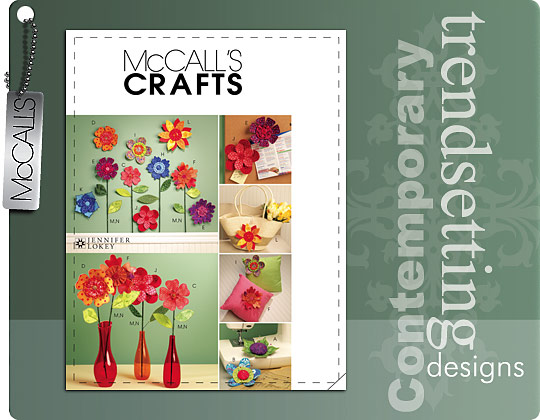 McCall's fabric flowers 5869