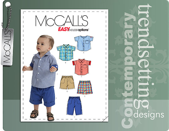 McCall's INFANTS' SHIRTS, SHORTS AND PANTS 6016