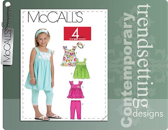 McCall's CHILDREN'S/GIRLS' TOP, DRESSES, LEGGINGS AND HEADBAND 6019
