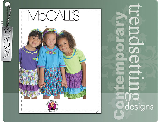 McCall's CHILDREN'S/GIRLS' SKIRTS, HEADBAND AND APPLIQUE 6021