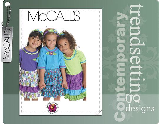 McCall's CHILDREN'S/GIRLS' SKIRTS, HEADBAND AND APPLIQUE 6021