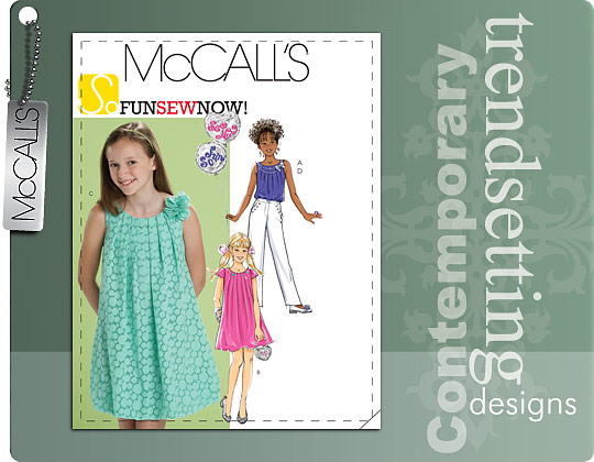 McCall's GIRLS'/GIRLS' PLUS TOP, DRESSES AND PANTS 6023