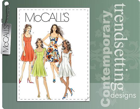 McCall's MISSES'/MISS PETITE DRESSES 6027