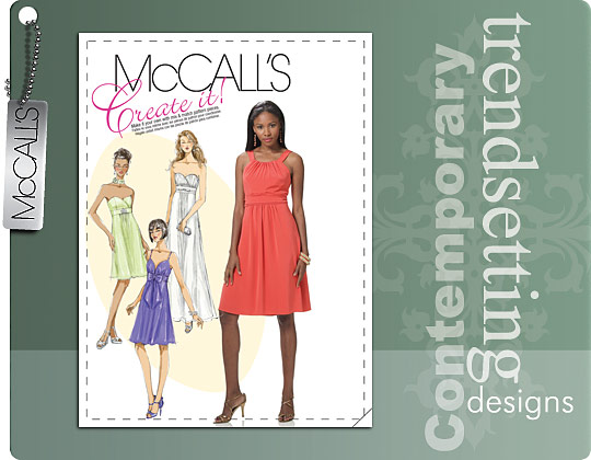 McCall's MISSES' LINED DRESSES IN 2 LENGTHS AND NECKTIE 6029