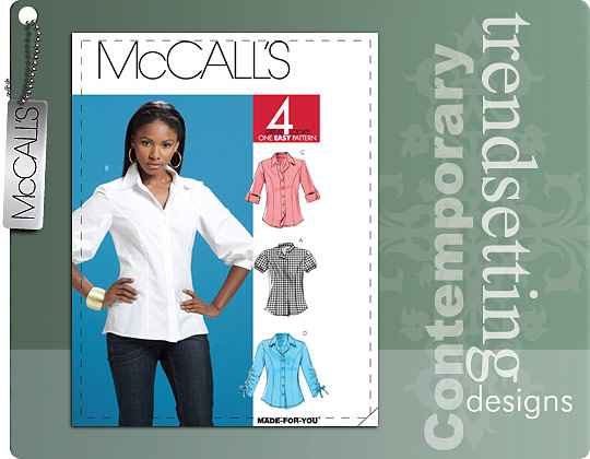 McCall's MISSES' SHIRTS 6035