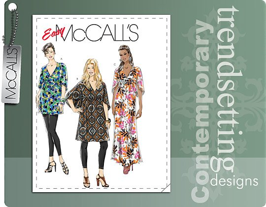 McCall's MISSES'/WOMEN'S TOP, TUNIC AND CAFTAN 6037