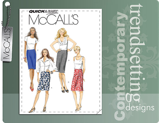 McCall's MISSES' SKIRTS IN 3 LENGTHS 6038