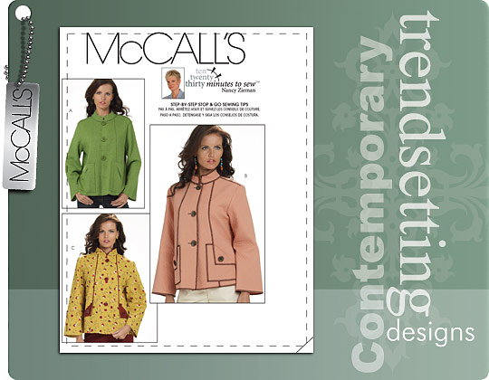 McCall's MISSES' UNLINED JACKETS 6040