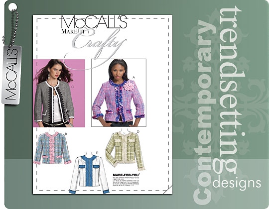 McCall's MISSES' LINED JACKETS 6041