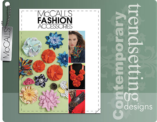 McCall's FABRIC FLOWERS 6047