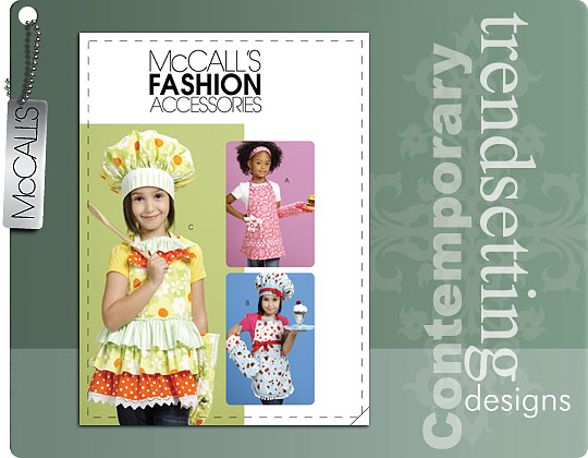 McCall's APRONS, HATS, HEADBAND AND MITT 6049