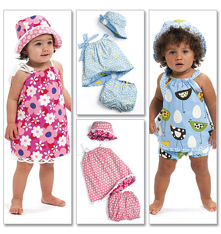 McCall's Infants' Reversible Dresses, Panties and Hat 6058