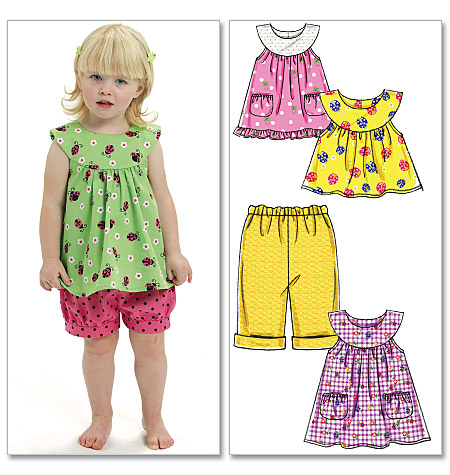 McCall's Toddlers' Top, Dresses, Shorts and Pants 6059