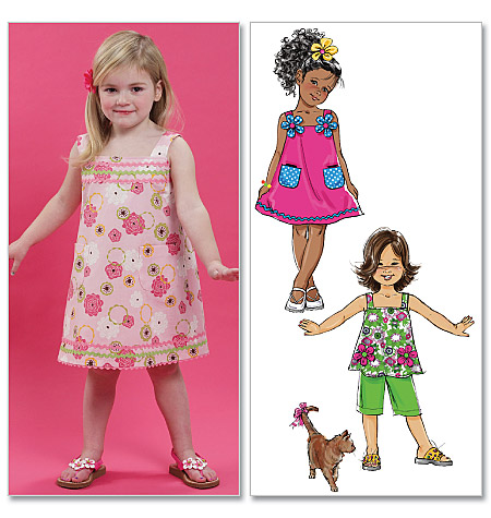McCall's Children's/Girls' Top, Dresses and Pants 6061
