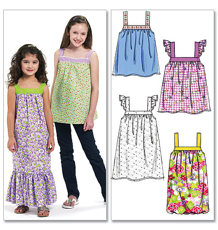 McCall's Children's/Girls' Tops and Dresses 6063