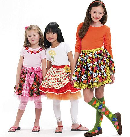 McCall's Children's/Girls' Skirts, Leggings and Appliqu�s 6066