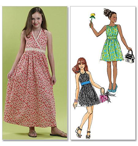 McCall's Girls'/Girls' Plus Dresses In 2 Lengths 6067