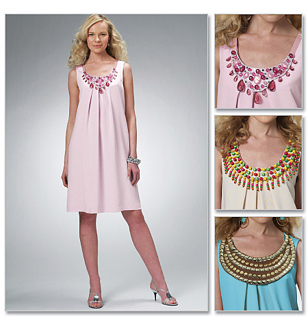 McCall's Misses' Dress and Detachable Necklaces 6068