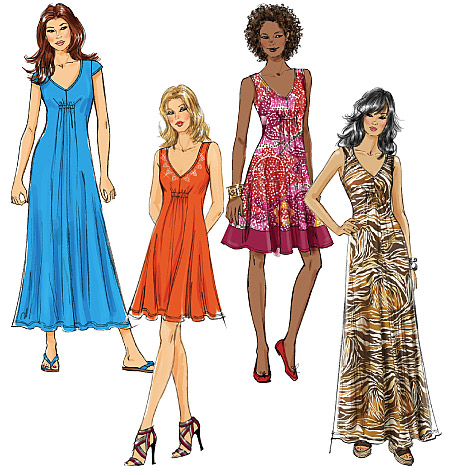 McCall's Misses' Dresses In 3 Lengths 6074