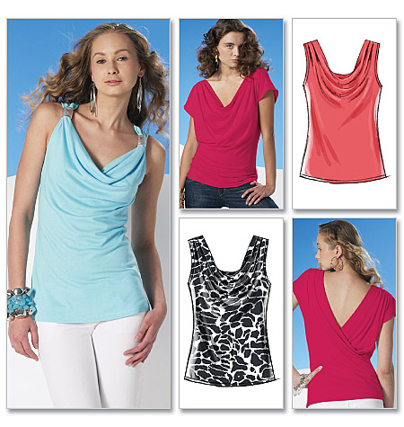 McCall's Misses' Tops 6078
