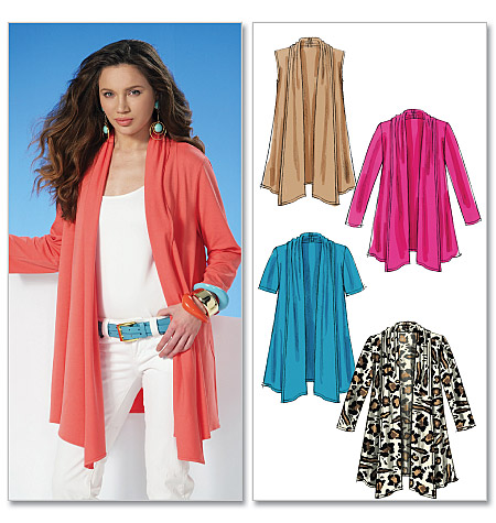 McCall's Misses' Cardigans 6084